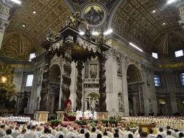 Vaticano, 24 marzo 2016: Papa Francesco presiede la Santa Messa del Crisma