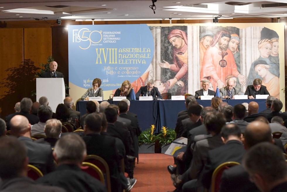 Roma, 24-26 novembre 2016: Federazione Italiana Settimanali Cattolici, XVIII assemblea elettiva nel 50° anniversario di fondazione - mons. Nunzio Galantino