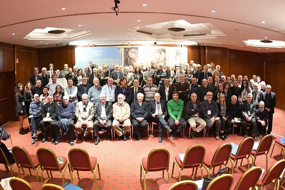 Roma, 24-26 novembre 2016: Federazione Italiana Settimanali Cattolici, XVIII assemblea elettiva nel 50° anniversario di fondazione - gruppo totale