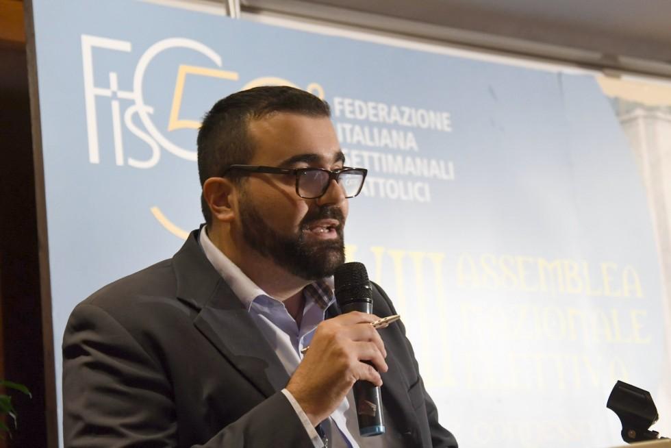 Roma, 24-26 novembre 2016: Federazione Italiana Settimanali Cattolici, XVIII assemblea elettiva nel 50° anniversario di fondazione - Simone Incicco, Marche