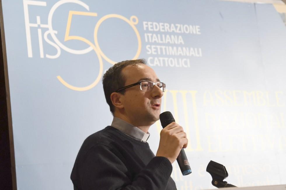Roma, 24-26 novembre 2016: Federazione Italiana Settimanali Cattolici, XVIII assemblea elettiva nel 50° anniversario di fondazione - don Claudio Tracanna, Abruzzo e Molise