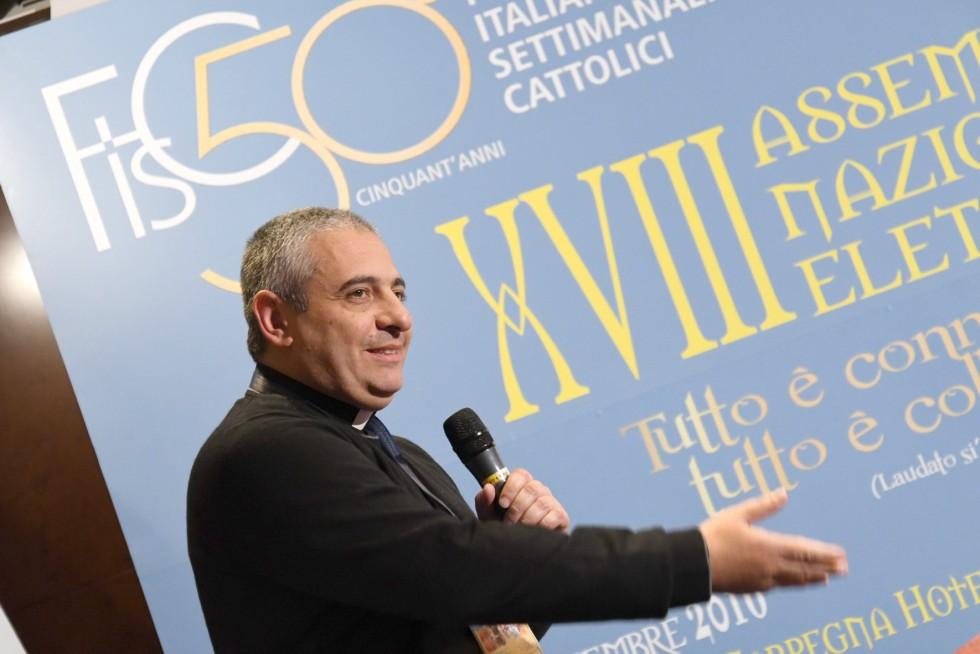 Roma, 24-26 novembre 2016: Federazione Italiana Settimanali Cattolici, XVIII assemblea elettiva nel 50° anniversario di fondazione - don Enzo Gabrieli, Cosenza