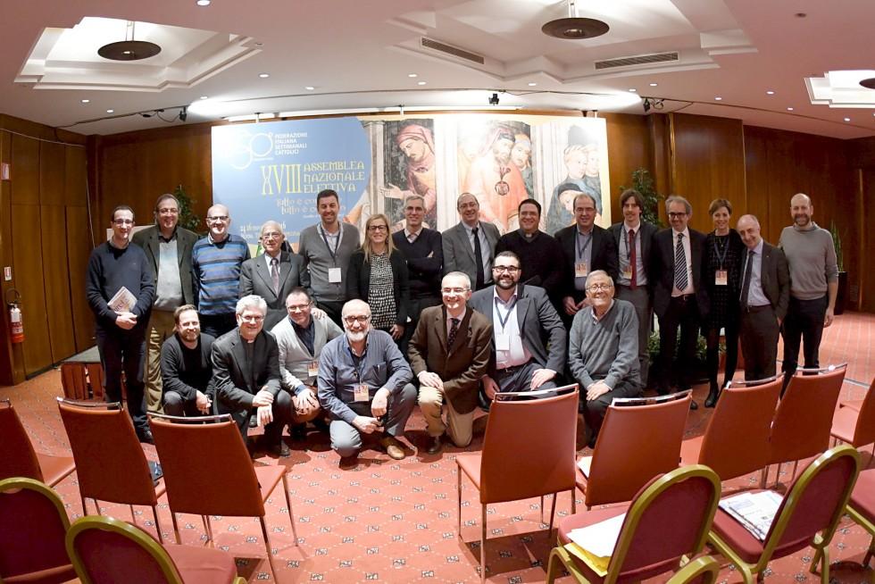 Roma, 24-26 novembre 2016: Federazione Italiana Settimanali Cattolici, XVIII assemblea elettiva nel 50° anniversario di fondazione - consiglio