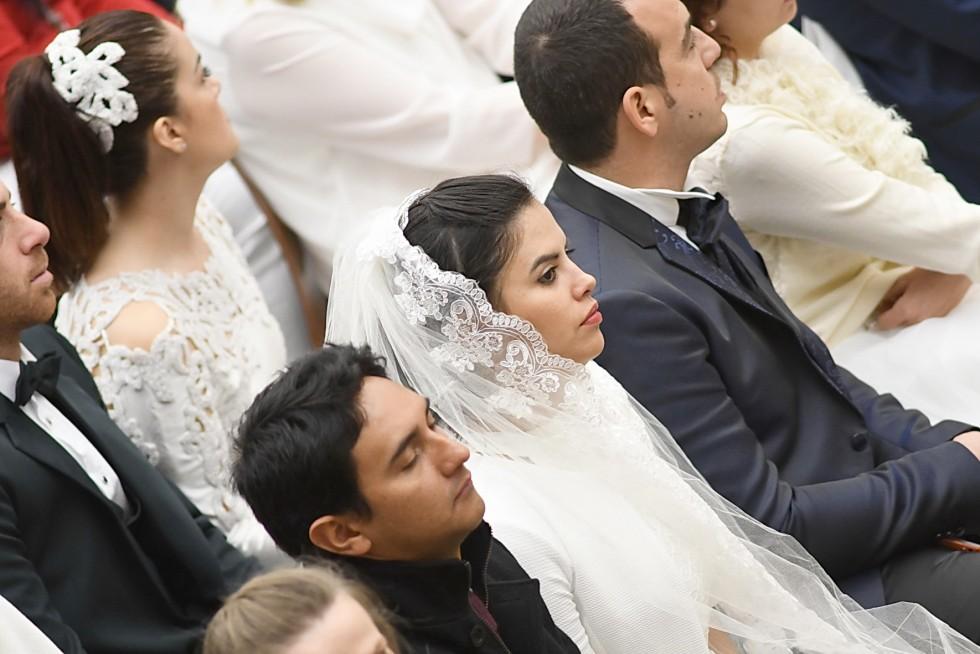 Aula Paolo VI, 30 novembre 2016: Udienza generale Papa Francesco - sposi