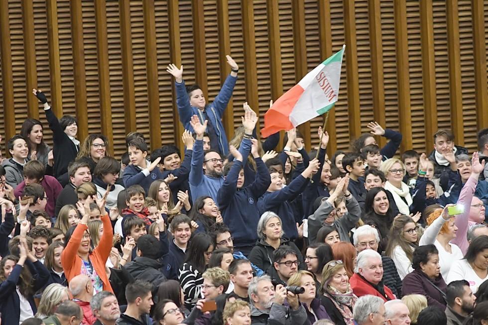 Aula Paolo VI, 30 novembre 2016: Udienza generale Papa Francesco - gruppo Asisium