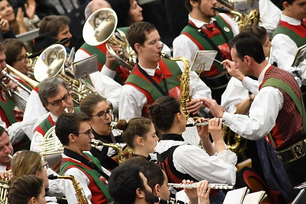 Aula Paolo VI, 7 dicembre 2016: Udienza generale Papa Francesco - banda di Sofia