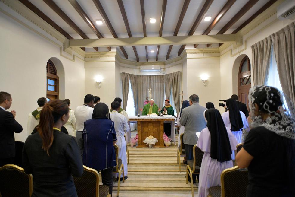 Yangon, 28 novembre: Viaggio Apostolico in Myanmar e Bangladesh (26/11 – 2/12), Papa Francesco celebra la Messa